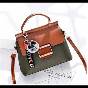 Green and brown medium size bag